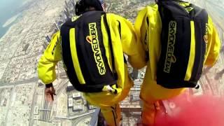 Бейсджампинг  Прыжок с  небоскреба в Дубае(Рекордная высота для прыжков с наземных конструкций., 2014-05-26T19:19:20.000Z)