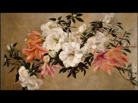 25 Most Elegant Paintings of Flowers by 19th Century French Painters / Delibes: Lakmé – Flower Duet