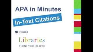 APA in Minutes: In-Text Citations