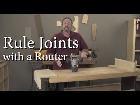 Cut a Rule Joint with a Router