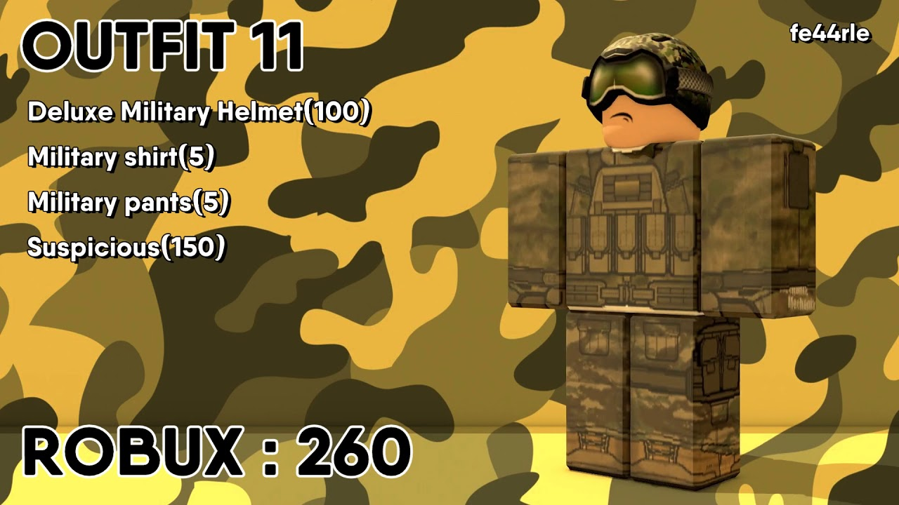 Military Uniforms On Roblox Youtube