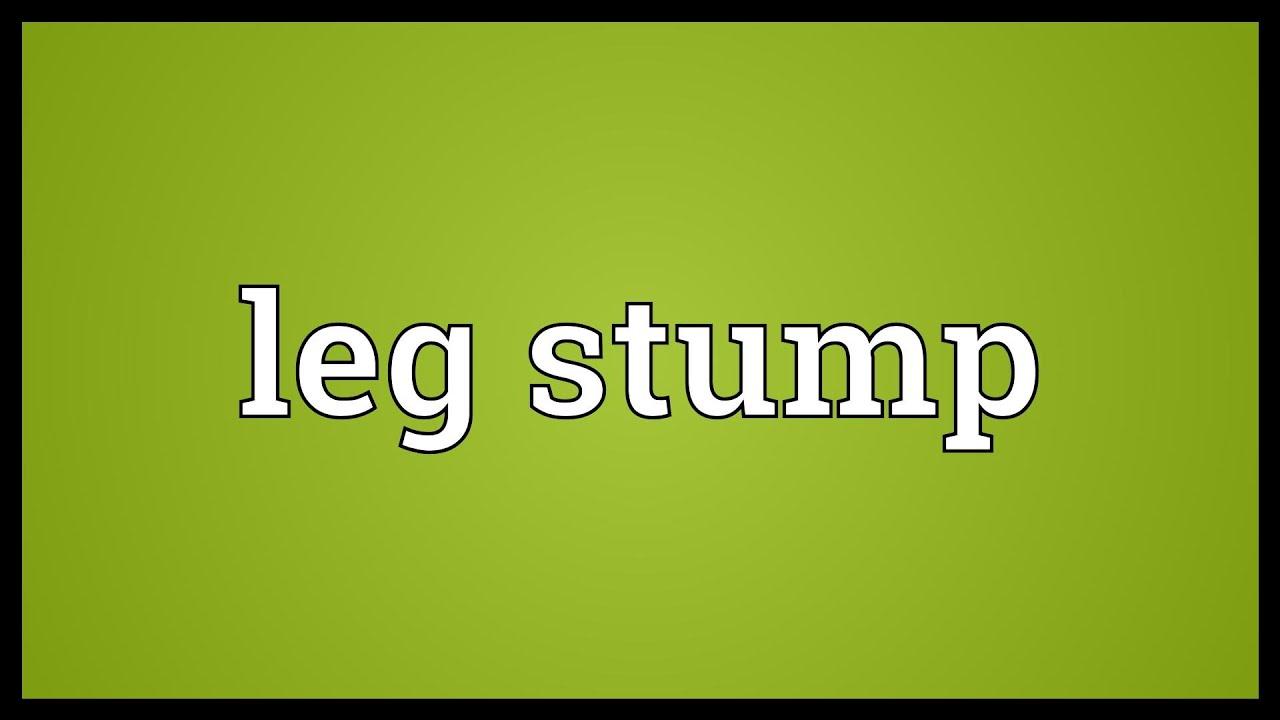 Leg stump Meaning - YouTube