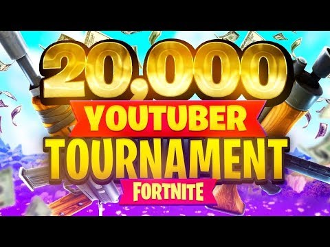 $20,000 YouTuber/Streamer FORTNITE TOURNAMENT (Week 9)