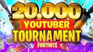$20,000 YouTuber/Streamer FORTNITE TOURNAMENT (Week 9)