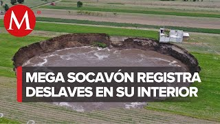 El Socavón en Puebla sigue aumentando su tamaño