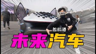 【无聊的开箱】未来汽车长啥样?带你潜入奔驰私人品鉴会一睹阿凡达概念车真容!