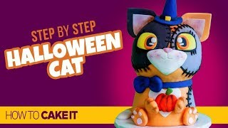 How To Make A CUTE Halloween Cat Cake by Veronica A. | How To Cake It Step By Step