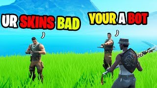 Recon Expert Gets Bullied By Toxic Default Clan On Fortnite...