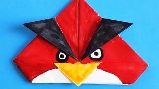 как сделать Angry Birds из бумаги. Angry Birds оригами своими руками. Поделки из бумаги