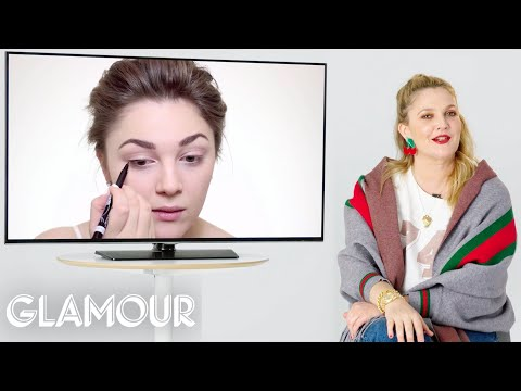 Drew Barrymore Fact Checks Beauty Tutorials Based On Her Movies | Glamour