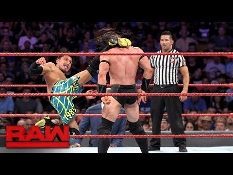 Neville vs. Akira Tozawa - WWE Cruiserweight Championship Match: Raw, Aug. 14, 2017
