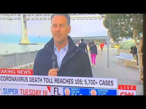 "CNN's Dan Simon In San Francisco On The Embarcadero, Not ""Downtown"", Talking ""Shelter In Place"""