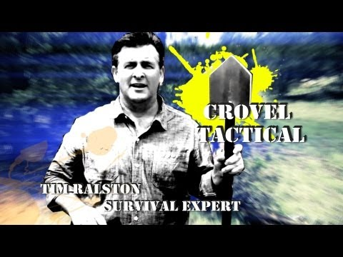Tim Ralston of National Geographic 's Doomsday Preppers demos the CROVEL TACTICAL Survival Shovel