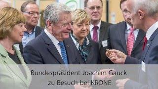 Bundespräsident Joachim Gauck zu Besuch bei KRONE