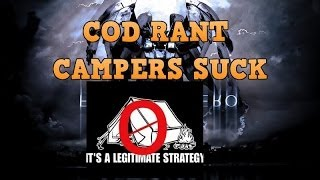 COD RANT! CAMPERS SUCK!! Call Of Duty Ghost Gameplay!