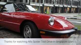 Alfa Romeo Spider Test Drive in Singapore (part 1)