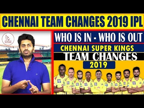 CSK IPL 2019 Team Changes | TEAM SQUAD | Auctions | Sports News | Eagle Media Works