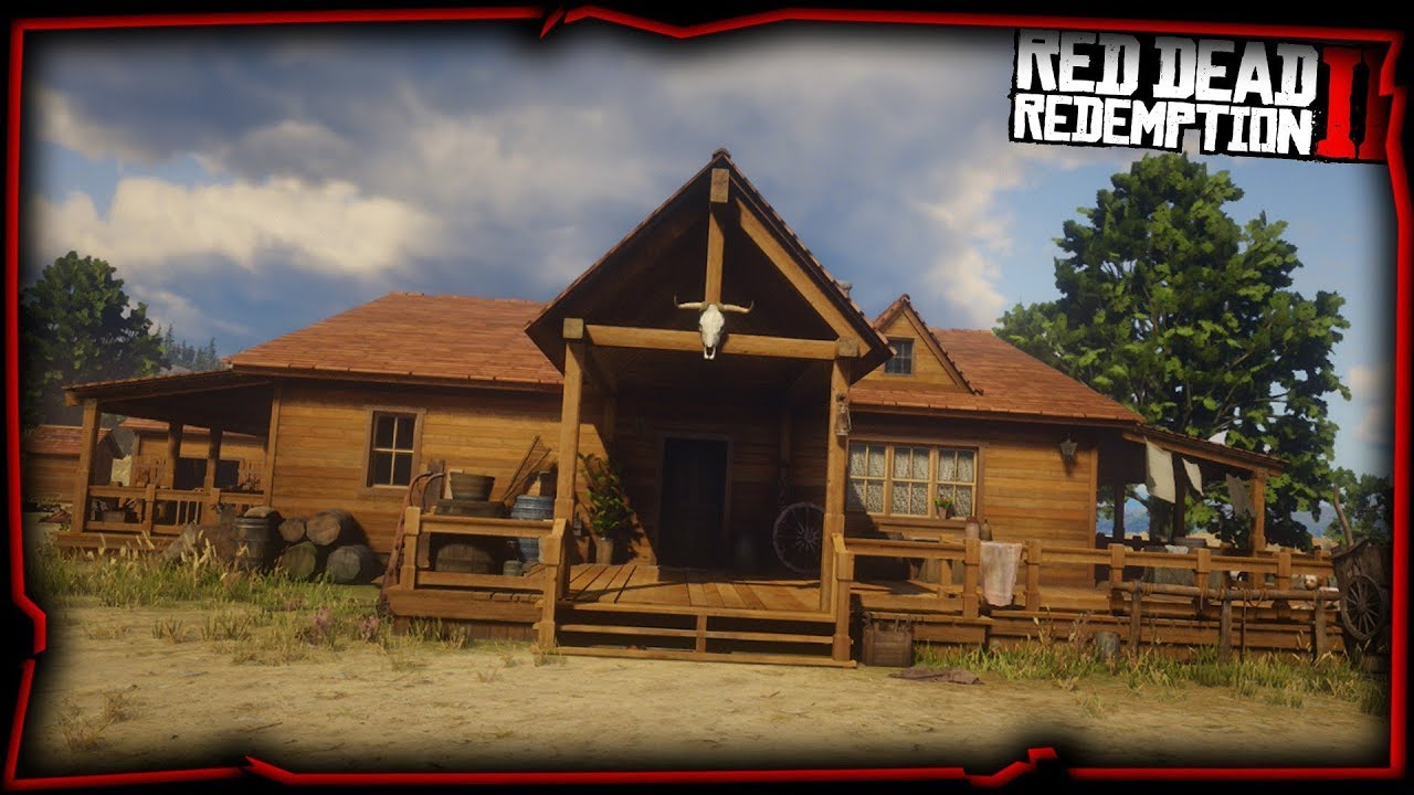 je construis ma maison sur red dead redemption 2 youtube. Black Bedroom Furniture Sets. Home Design Ideas