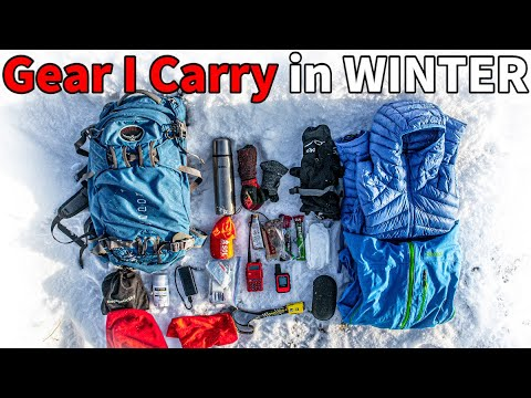 My Winter Day Pack Gear List | Hiking, Snowshoeing, Skiing |