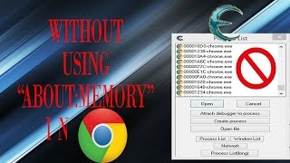"""How to use Cheat Engine in Google Chrome without """"about:memory"""""""