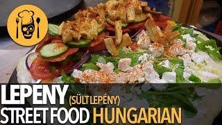 Hungarian Street Food. LEPENY Budapeşte 'de LANGOS kadar satılan bir sokak lezzeti