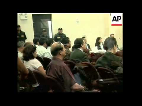 Montesinos faces charges of selling arms to Colombian rebels