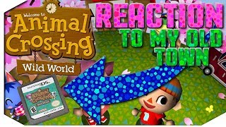 Reacting to My 10 Year Old Animal Crossing Wild World Town