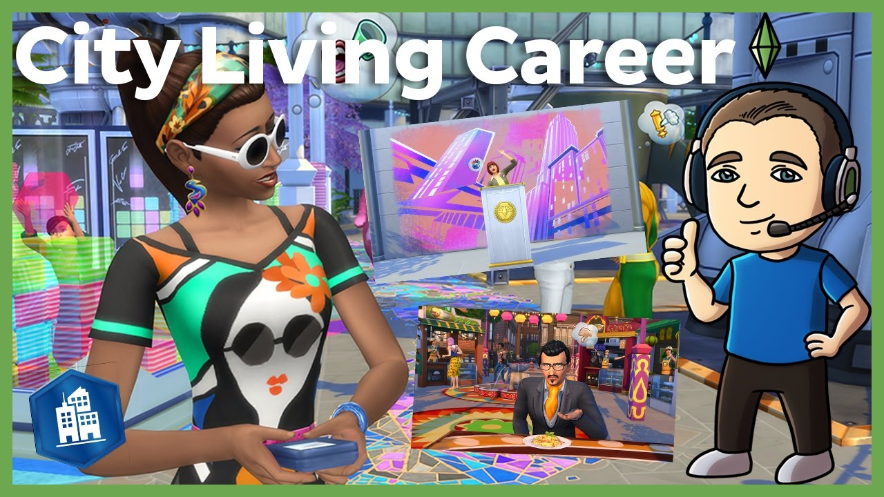 sims city living careers sims 4 city living careers