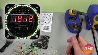 In this video I build an electronic clock kit! I attempt to do it with a cheap USB soldering iron, but don