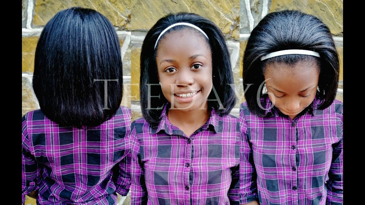 weave for short hair styles kid friendly sew in for pre teeday6 1161 | maxresdefault