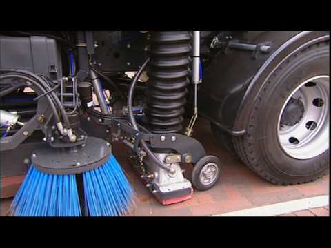 johnston sweepers vt650 truck mounted street sweeper youtube