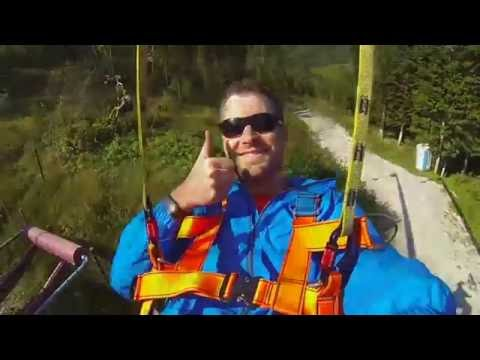 ACTION: Zipline Stoderzinken - Gröbming (längste Seilfluganlage Der Alpen)