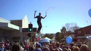 Spring into Corrimal 2011. World champion unicyclist performs.