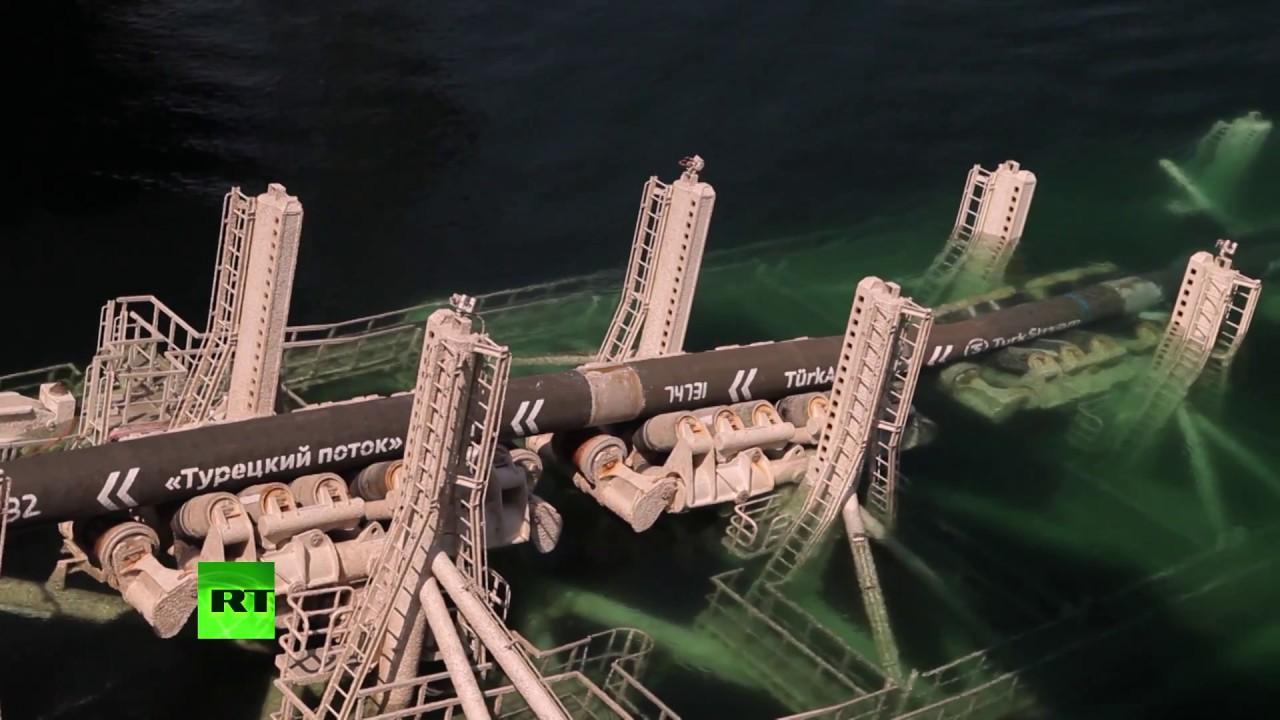 «Газпром» закончил строительство первой нитки газопровода «Турецкий поток»
