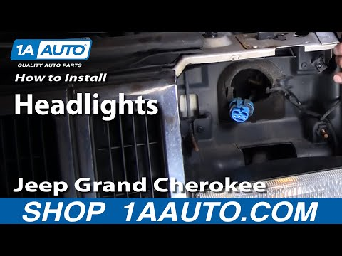 How To Install Replace Grand Cherokee Headlight 93-98 1AAuto.com