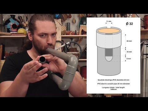 Homemade Instruments - 01 How To make a PVC pipe overtone flute / fabriquer une flûte harmonique PVC