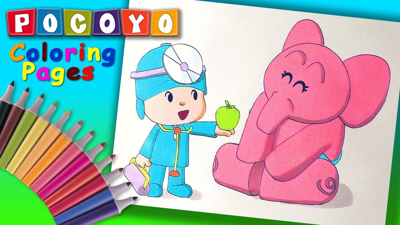 Pocoyo Coloring Book #ForKids ! Fun #Pocoyo Coloring Page