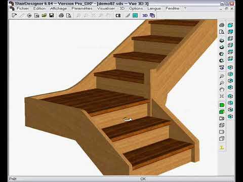 concevoir un escalier avec palier 2 partie youtube. Black Bedroom Furniture Sets. Home Design Ideas