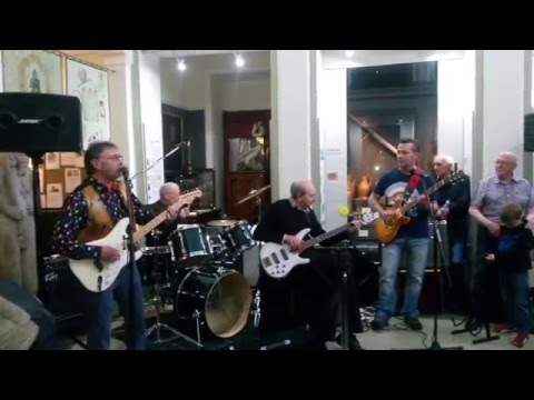 Johnny and the Copycats at the Bonici launch at Elgin Museum