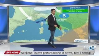Meteo Italia: perturbazione in arrivo nel weekend, i dettagli