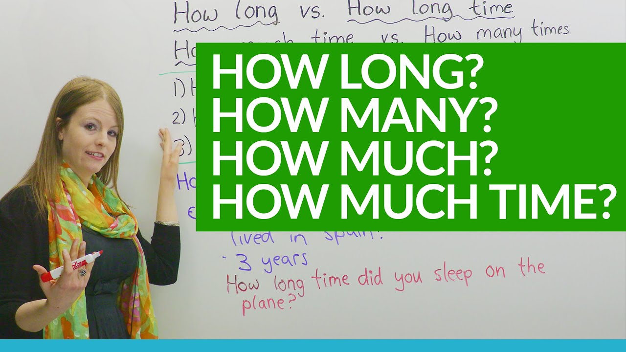 How to Ask Questions HOW LONG HOW MUCH  YouTube