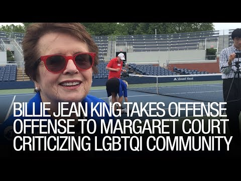 Billie Jean King Takes Offense To Margaret Court Criticizing LGBTQI Community