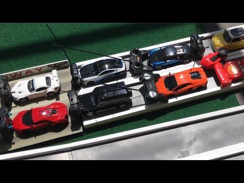 TOY RC CAR DRAG RACING