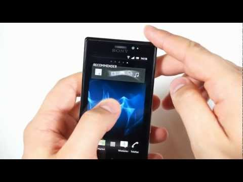Sony Xperia Sola - appearance, menu - part 1