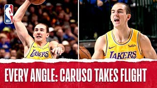 Every Angle Of Alex Caruso's Rim-Rattling Dunk | Nov. 1, 2019