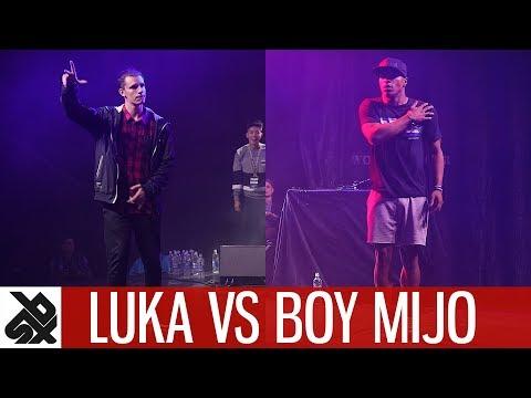 LUKA vs BOY MIJO feat KPOM  Dance Battle To The Beatbox 2017  SEMI FINAL  WBC X FPDC