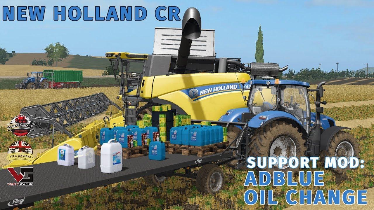 NEW HOLLAND CR 6/7/8 90 OIL CHANGE E ADBLUE   FARMING SIMULATOR 17