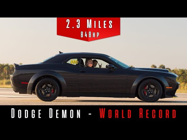 A 2018 Dodge Demon Just Hit 203 Mph Or Much Quicker Than It S Supposed To Go Updated