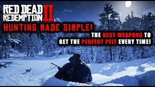 Red Dead Redemption 2 - Hunting SIMPLE Guide! Best Weapons to Get Perfect Pelt for Every Animal!