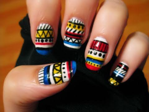 Tribal Nail Art - Tribal Nail Art - YouTube
